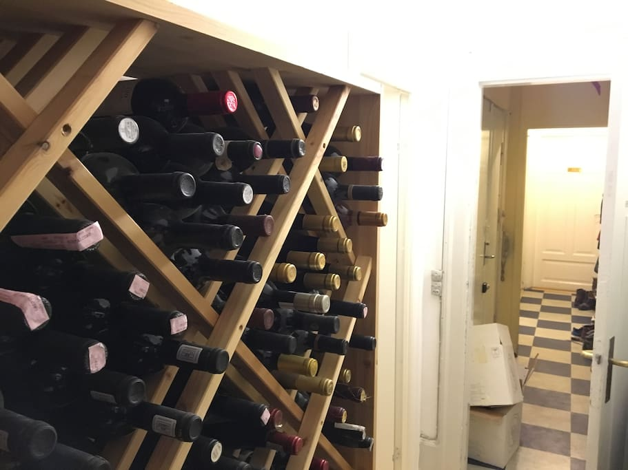 Our wine collection.