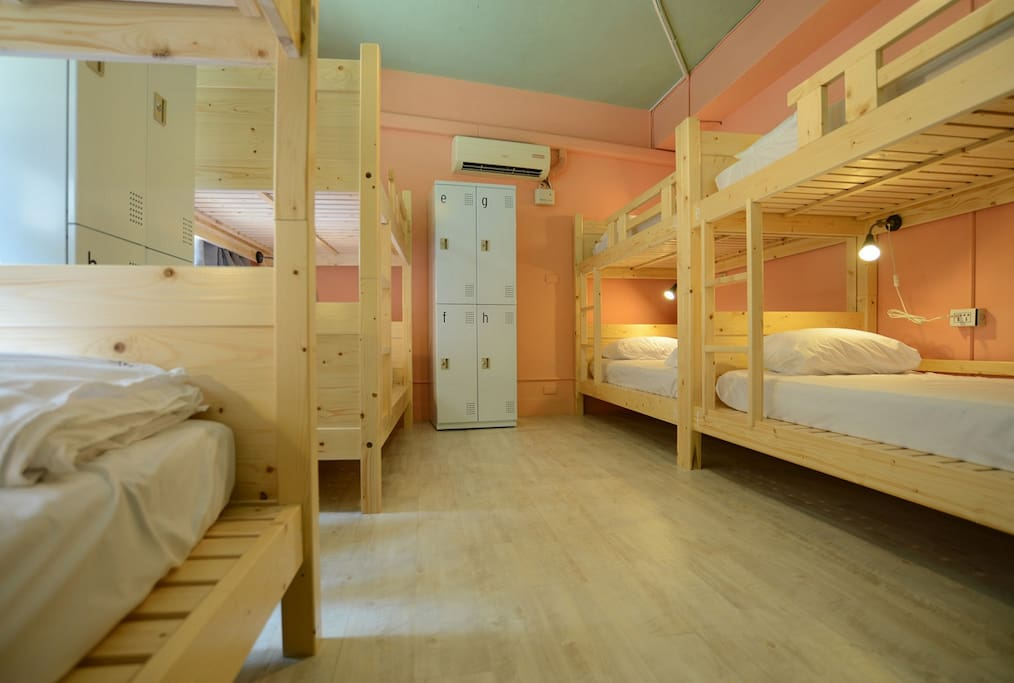Our small suits, all beds coming with outlet plug, led lamp, comfortable mattress, comfy pillow, personal locker.
