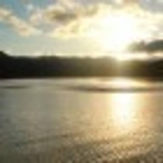 Barragem para pratica de esportes aquatico, pesca e lazer.