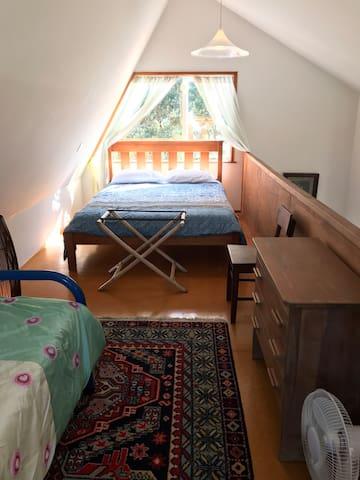 the mezze queen bed view