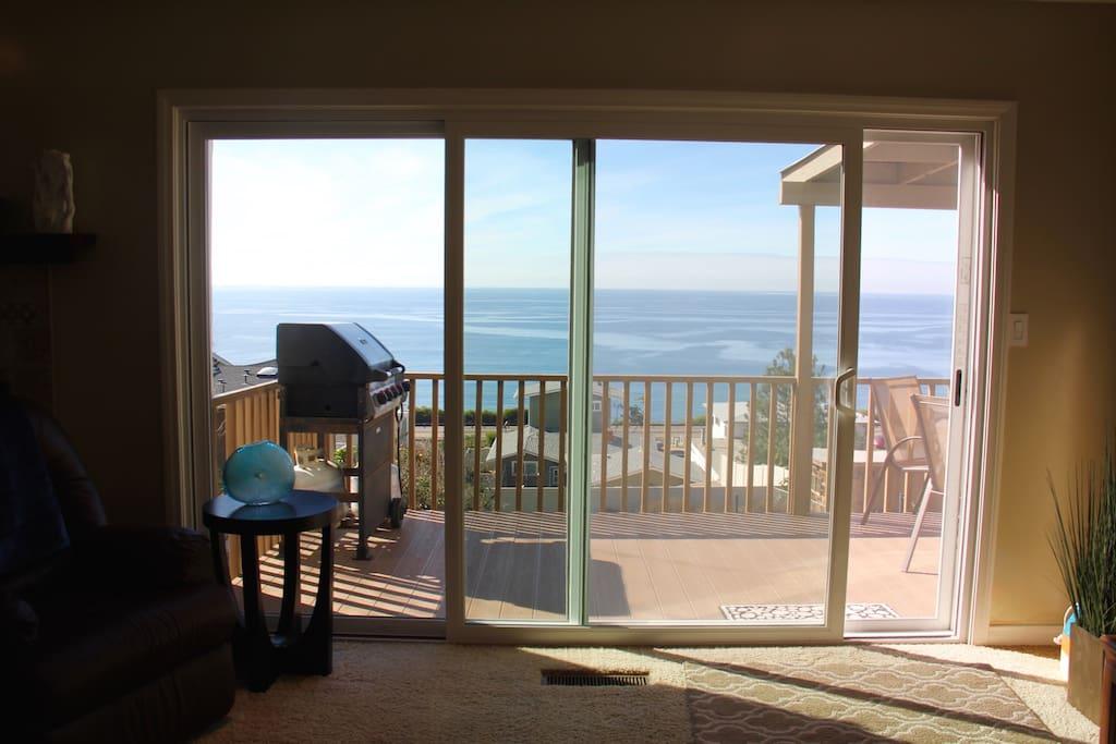 Walk in... Ocean View on Patio deck.  Feel the breeze blow...