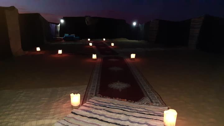 Luxury desert queen camp  And camel treks