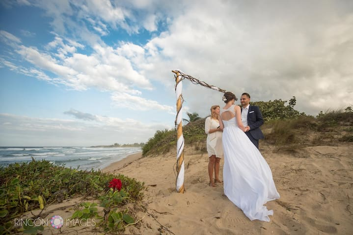 "intimate wedding on our private beach: ask about our ""Simply Wed"" elopement package"