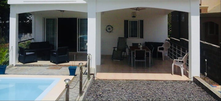 Big, ground floor bungalow with private pool.