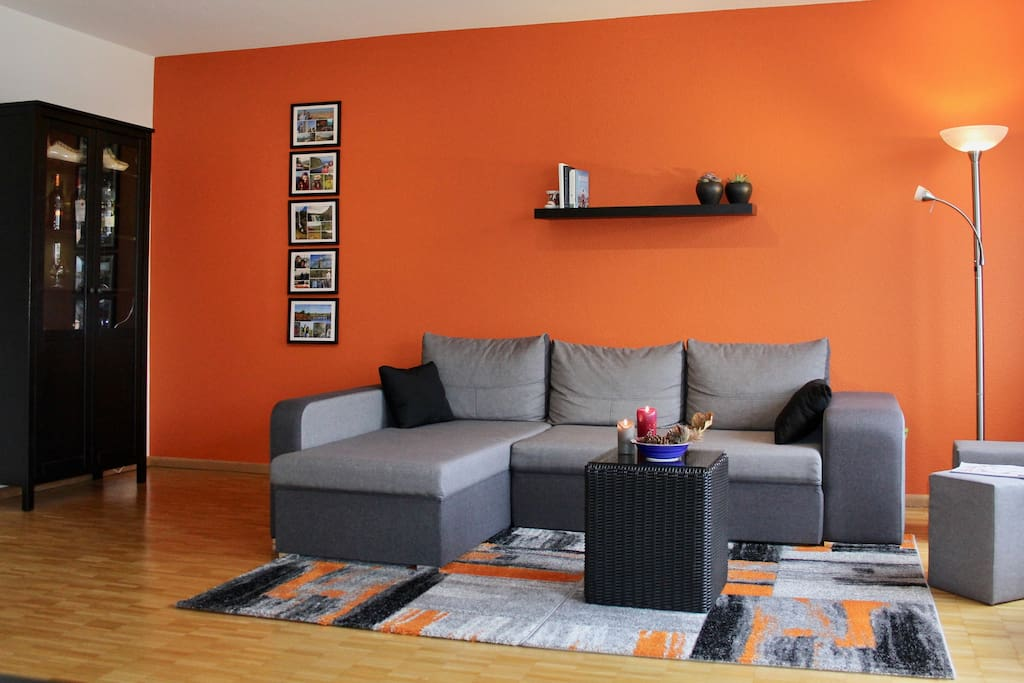 Warm, spacious and comfortable living room invites you to unwind