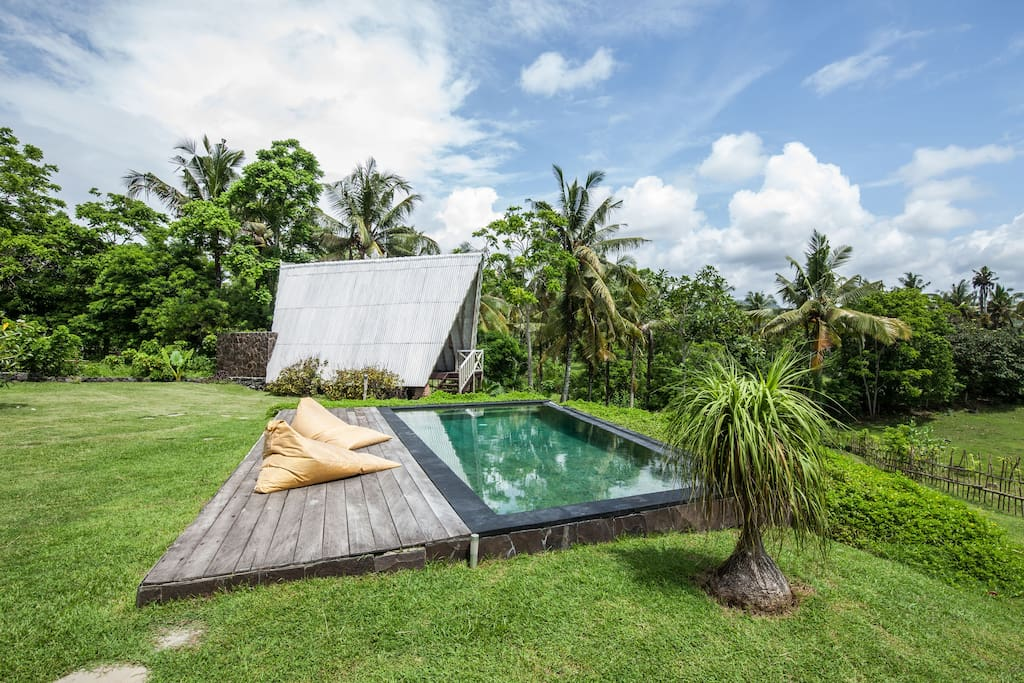Be surrounded by green as you frolic and bask under blue Bali skies