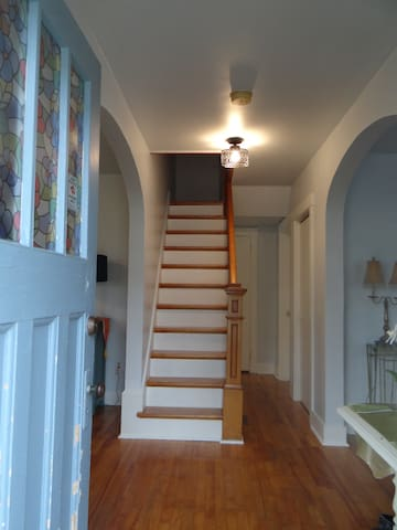 Entryway and the stairs leading to your bedroom. Be careful - they are quite steep!