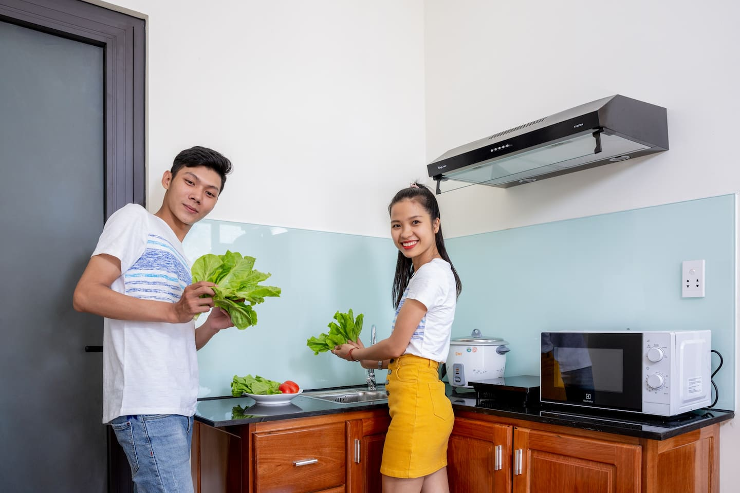 When you stay at our homestay, you can free cooking with full facilites. But you must clean everything at the kitchen, or we'll charge 150.000 Vietnamdong for a time