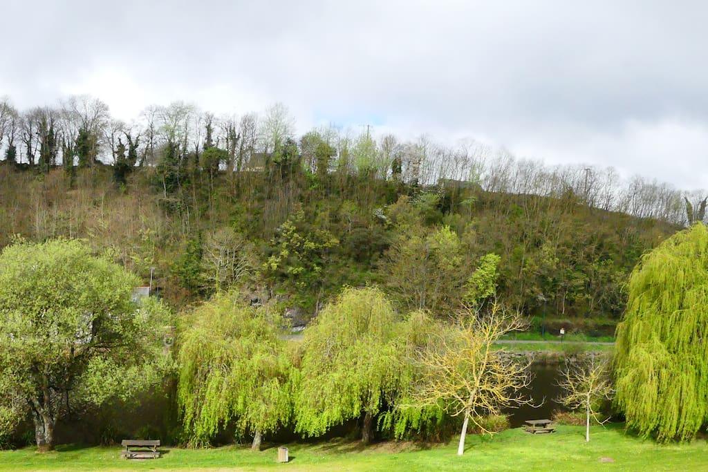 vue sur la rivière le Trieux en face de la maison