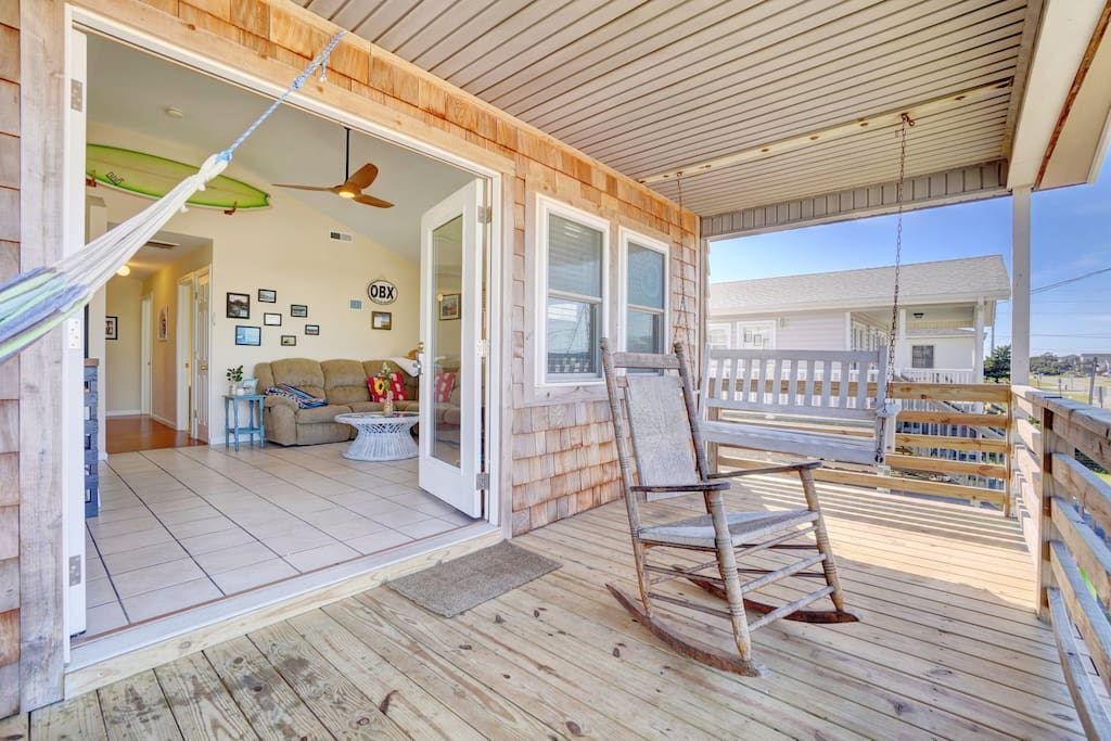 Open the French doors fully to feel the ocean breeze