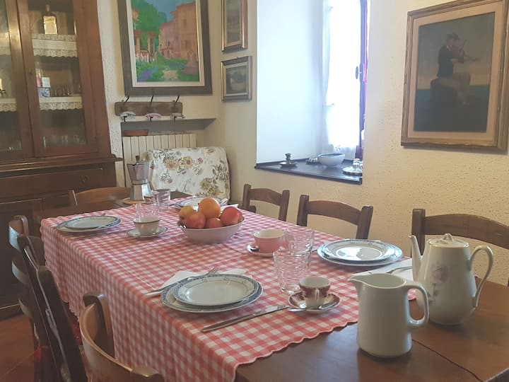 Quiet mountain village, b&b, private room/ wi-fi