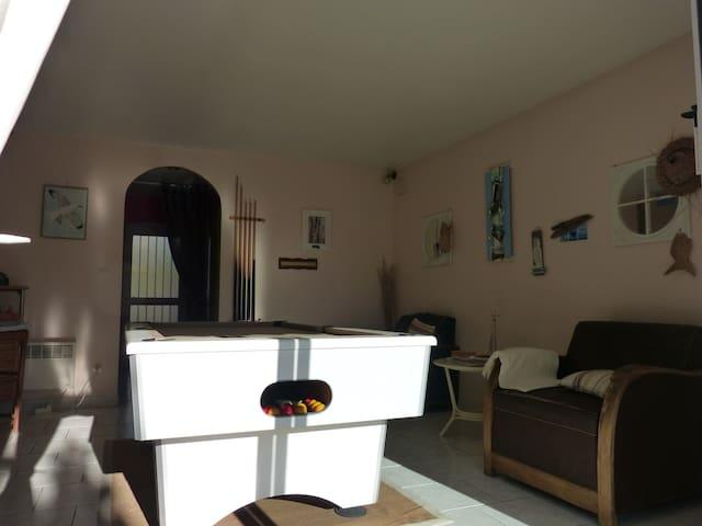 Chambre dans maison entière avec piscine & billard - Parçay-Meslay