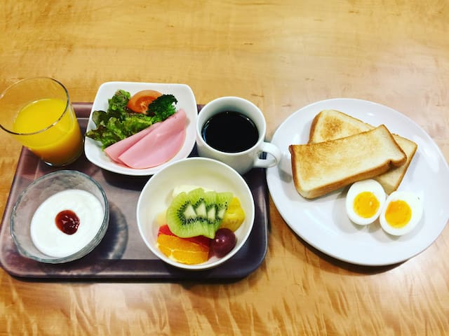 Twin room-B&B w/fruits&salad,1min to NARA station