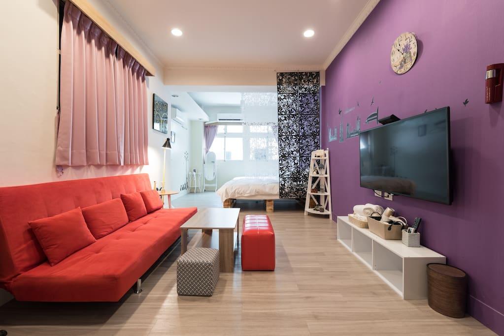 房源1 4人房➕ 客廳大空間