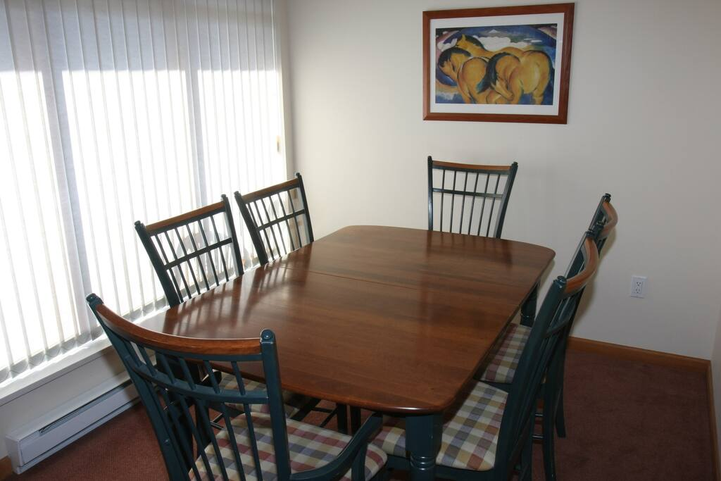 Enjoy a home cooked meal in the cozy dining area