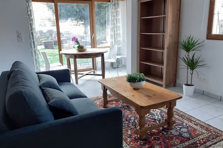 Bright and spacious garden apartment near Verbier