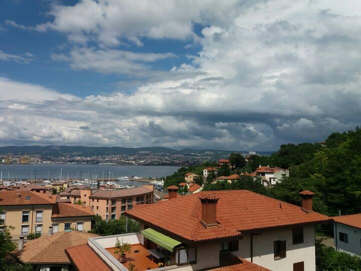Appartamento panoramico Vista sul Golfo di Trieste