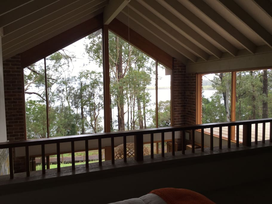 looking out from upstairs bedroom with ensuite and walk-in robes