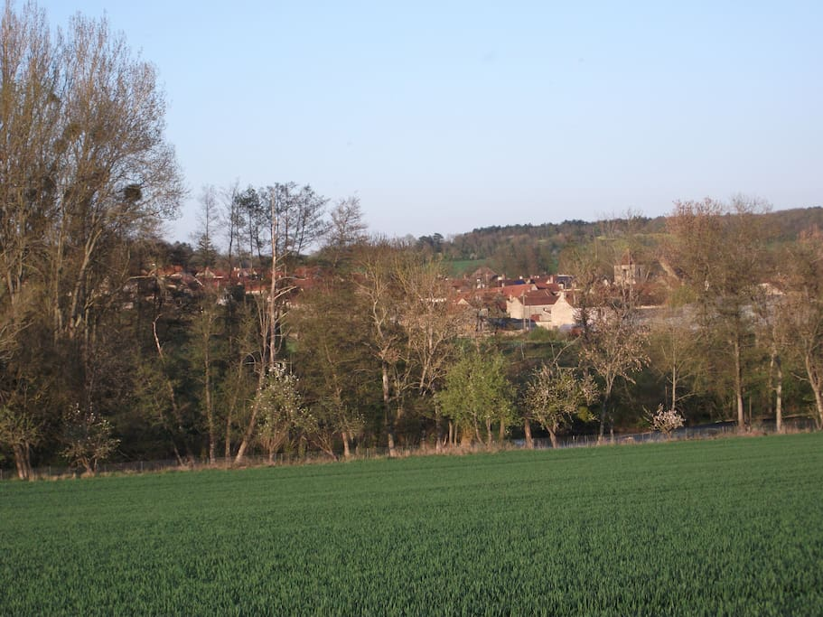 View on the surroundings of the house (Annay sur Serein to be seen in the distance)