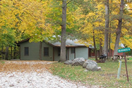 Kishauwau's Starved Rock Area Cabins - Romantic Whirlpool (Wilderness) Cabin For 2, No Kids, No Dogs