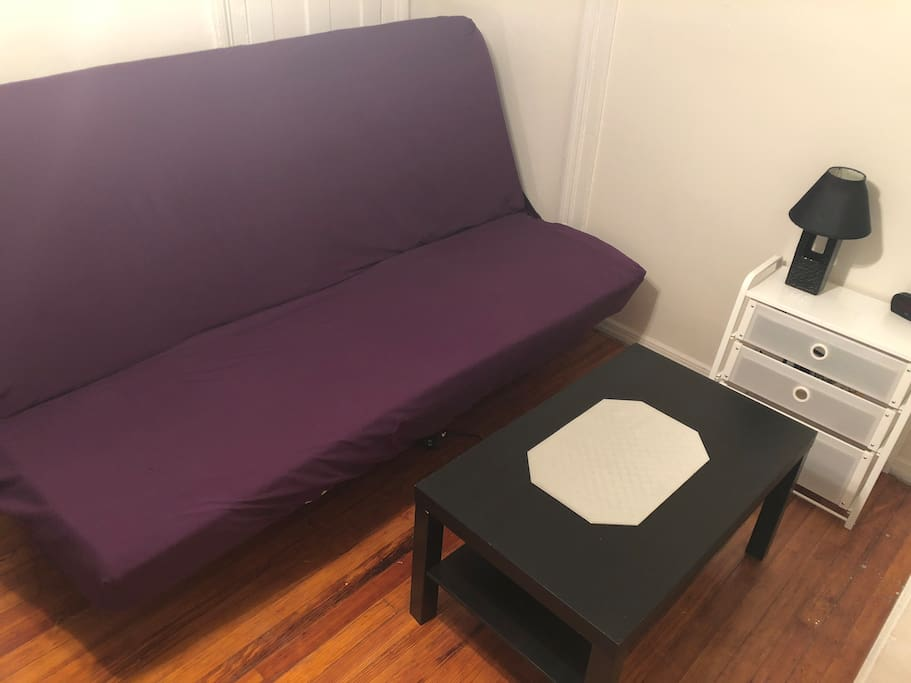 The bed inside the room can be transferred into couch if needed