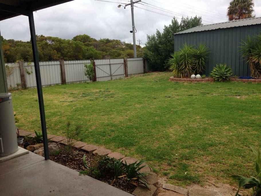 Large enclosed Backyard, shed available if required.