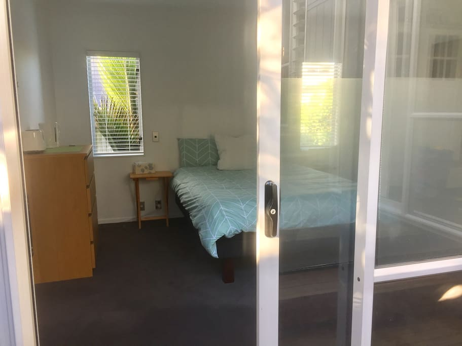 Your private bedroom from deck (its own entrance)