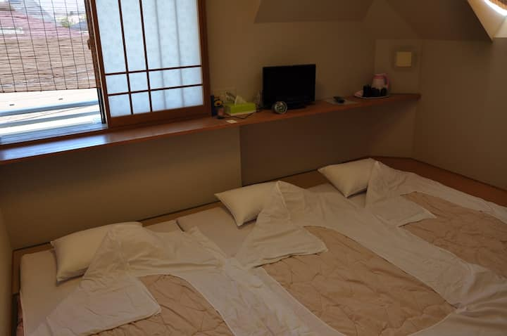 Triple room in a real  Japanese style inn