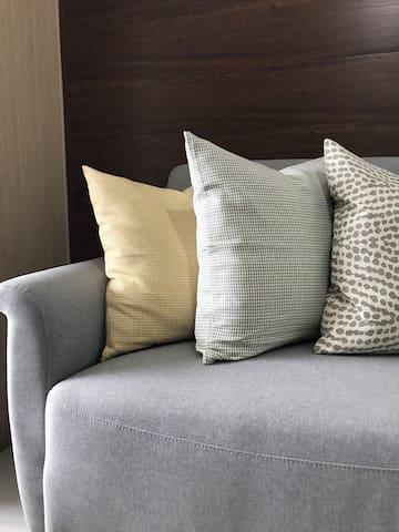 A warm and comfy stay with these soft cushions.
