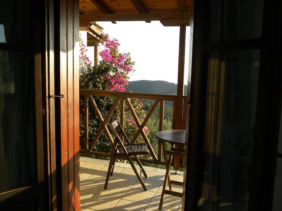 Twin room balcony