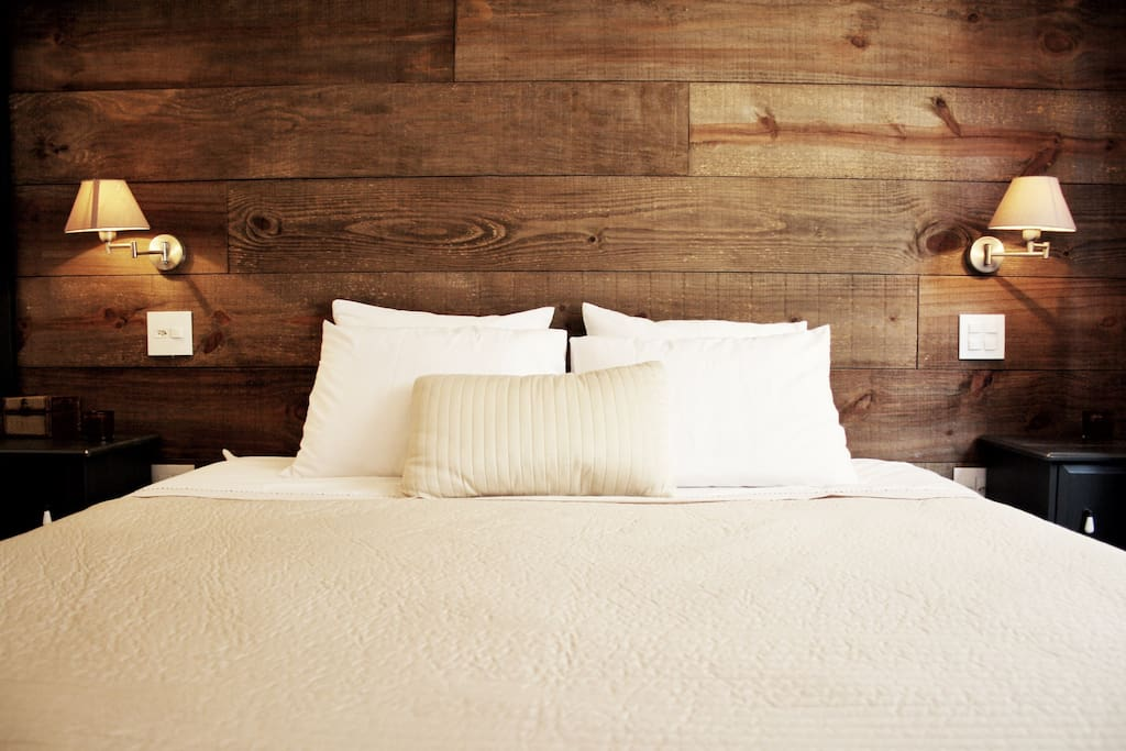 All our  beds and sheets are high quality, soft white clean, and regularly changed.