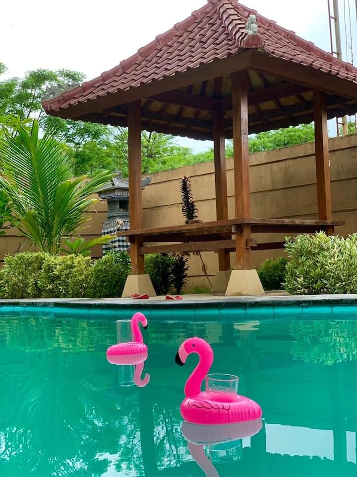 Bali Private villa 2 br swimming pool, diving area