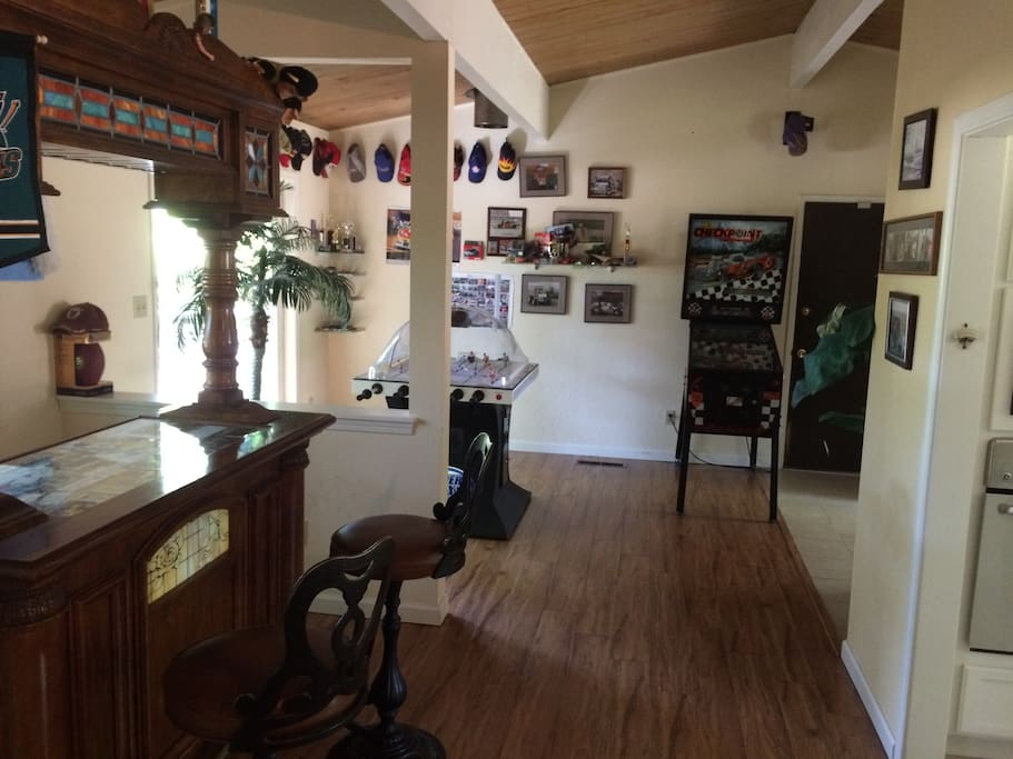 The game room with bar