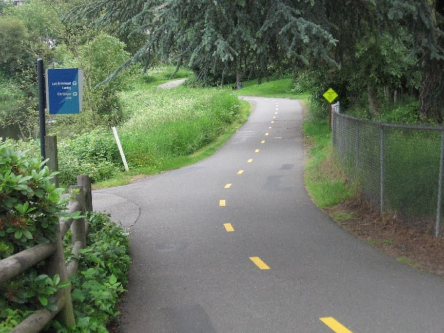 The trail to the park & Redmond Town Center - behind the building on subject property