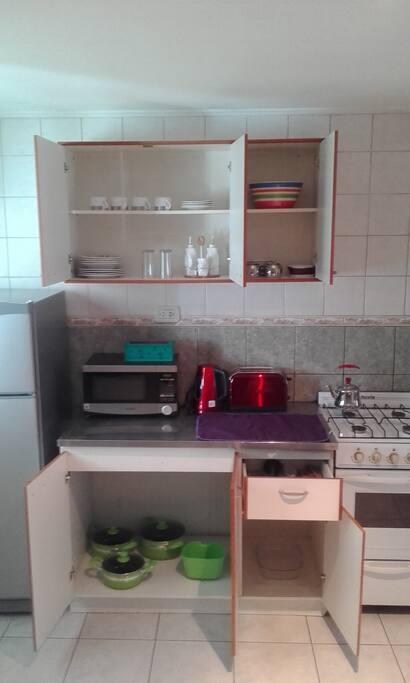Cocina completamente equipada para 4 personas