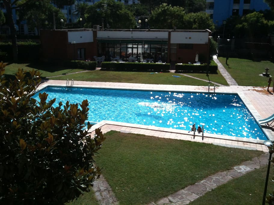 grande piscine dans jardin privé