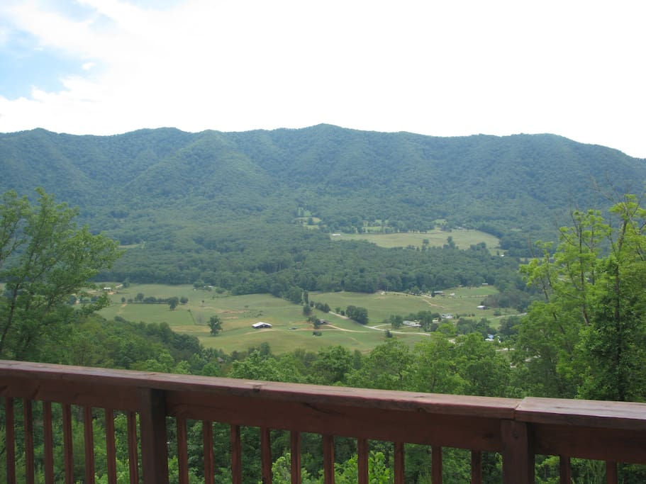 Best view on our property, from the upstairs deck of this cabin - you will be mesmerized!