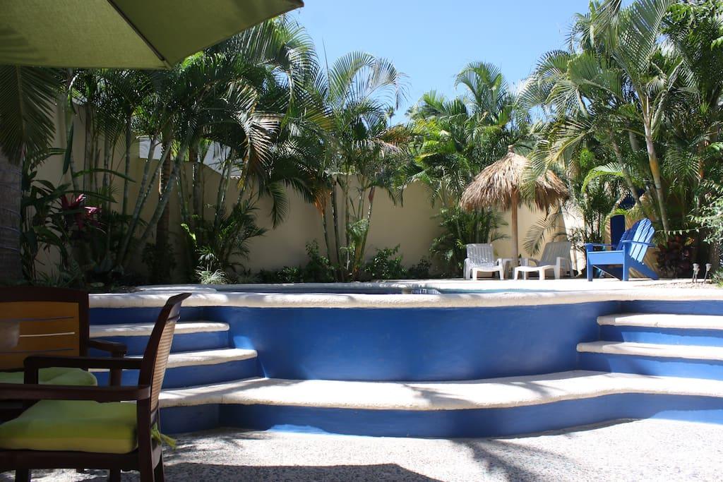 Back Lower deck and pool area showing Palapa area