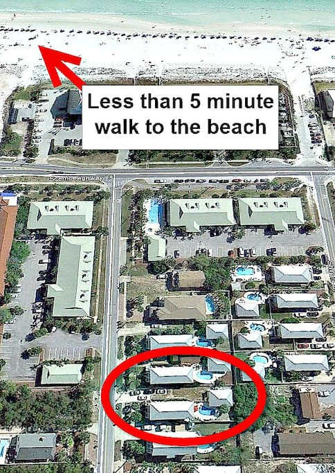 Less Than 5 Minute Walk to the Beach!