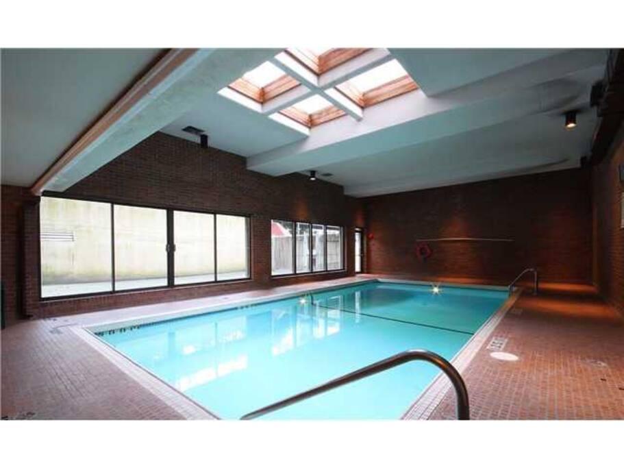 Indoor Pool, sauna and gym area