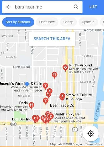 100's of Bars & Restaurants Nearby! DADA's is our personal favorite right down the street from the house!