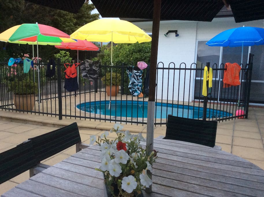 Outdoor dining and thermal pool