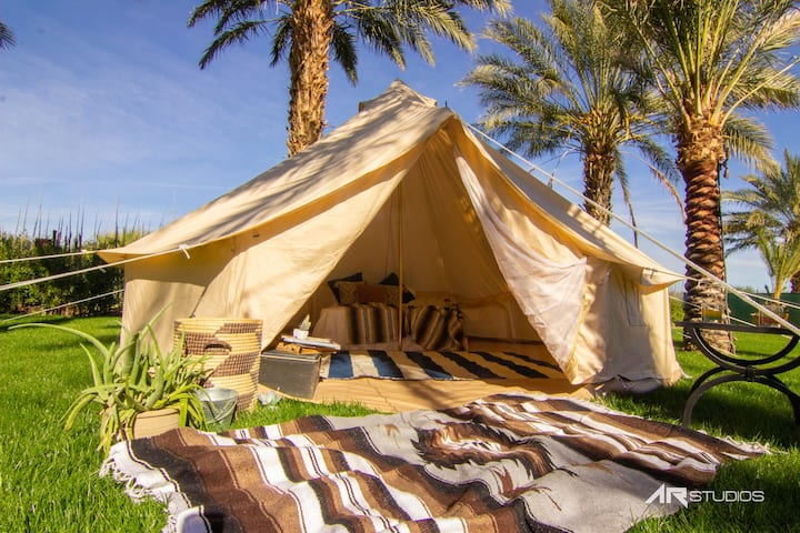 FestivalCampgrounds@RanchoAlvardo Bell tent  1 bed