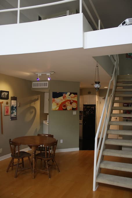 Oczl open concept zen loft lofts for rent in ottawa for Open concept loft