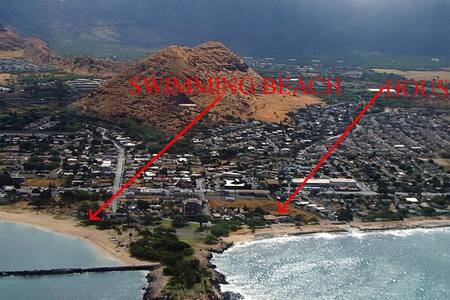Large Beach House at Pokai Bay - Waianae - Casa