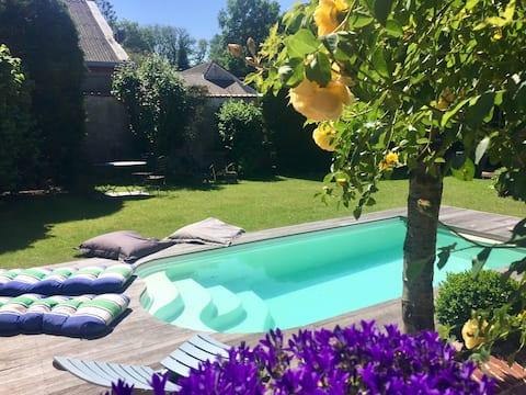 Fermette avec piscine privative
