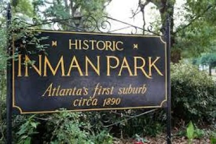 Located in Historic Inman Park. Atlanta's first suburb in the 1890's. Just one mile from the center of downtown. Convenient to Olympic Park, World of Coca-Cola, National Center for Civil and Human Rights, Georgia Aquarium, CNN, Mercedes Benz Stadium