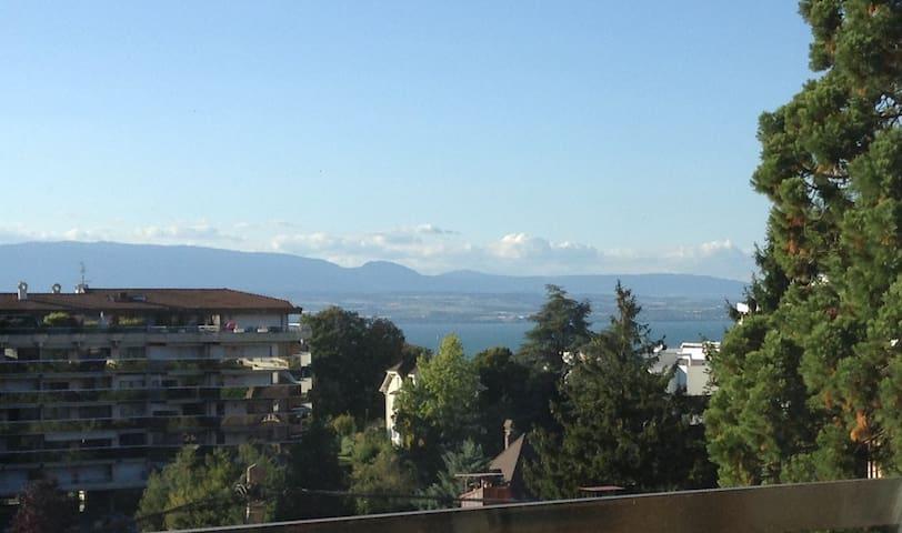 à côté des thermes, vue sur le lac - Thonon-les-Bains - Leilighet