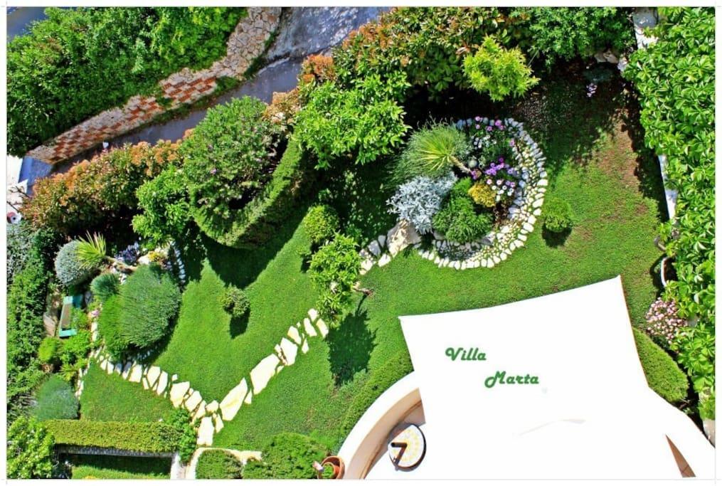 villa Marta beatiful garden