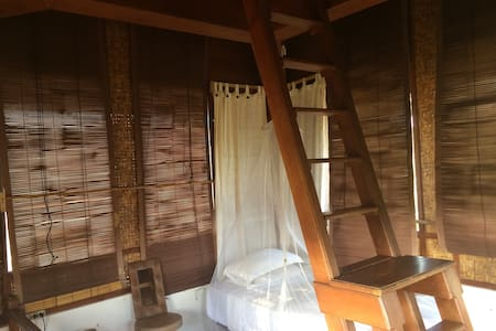 Traditional Bali style openair room